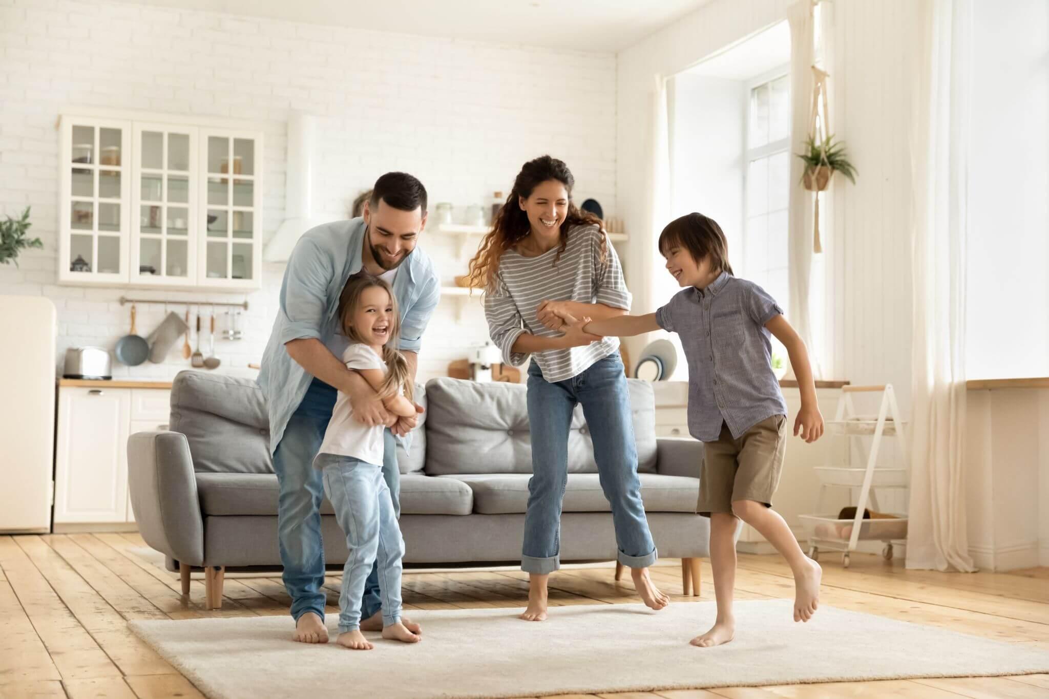 Bild einer glücklichen Familie